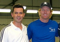 Jim Courier and Jason Saunders