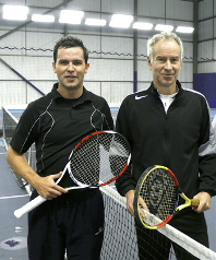 John McEnroe and Jason Saunders